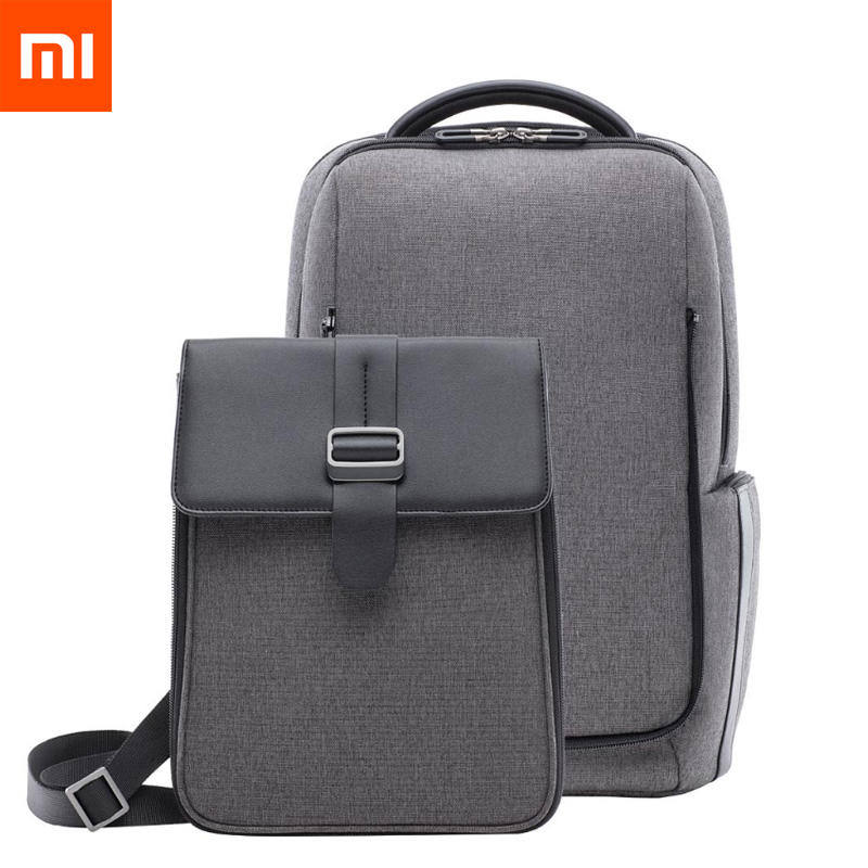 Original Xiaomi Bag Fashion Commuting Waterproof Removable Front Bag Big Capacity Men Backpacks Travel Laptop Bag