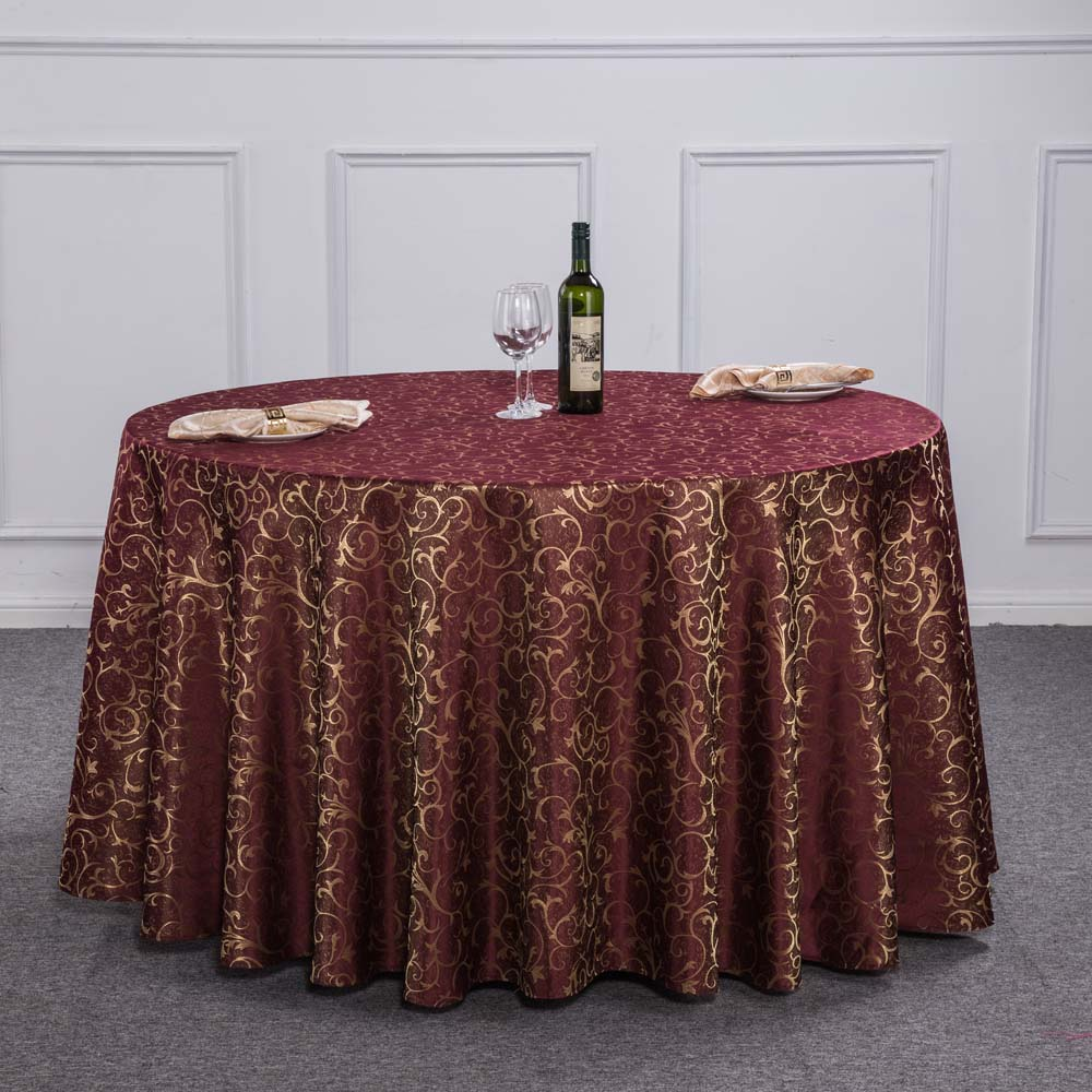 Perfect New Luxury Crocheted Gold Leaf Red Round Table Cloth For Hotel Restaurant  Decor Rectangle Washable Tablecloth For Wedding Party In Tablecloths From  Home ...