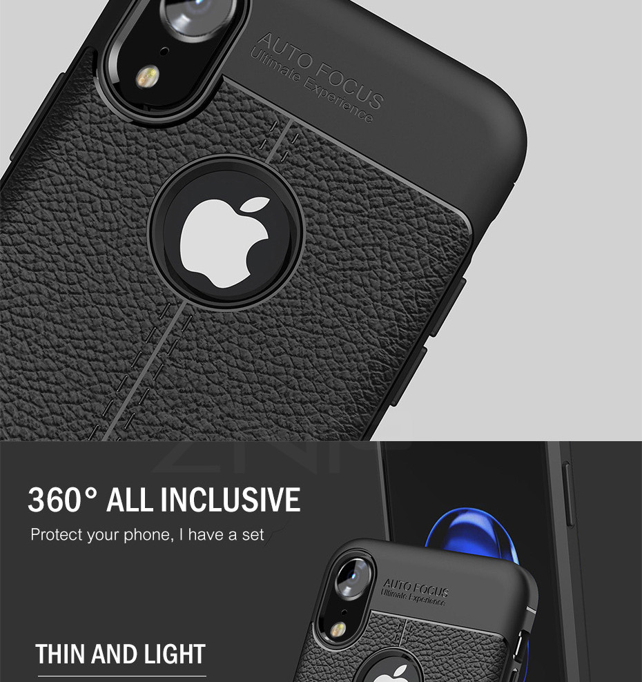 HTB1k7TBXjzuK1RjSspeq6ziHVXa6 - ZNP Luxury Shockproof Matte Cover For iPhone 6 7 8 Plus 6s Case Leather Carbon Fiber Leather For iPhone X XR XS Max Phone Case
