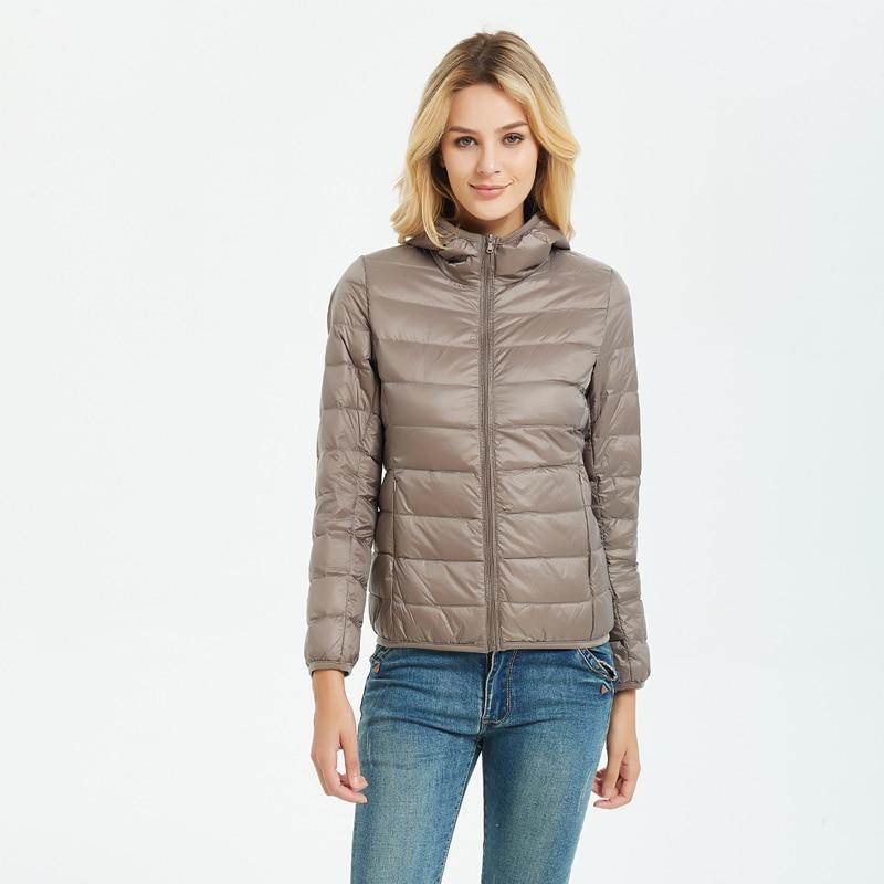 2019 New Ultra light duck   down   jackets women Hooded winter   coat   Long Sleeve Warm Slim 5XL plus size jacket lady Clothing