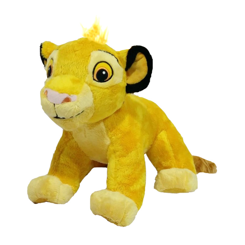 New Good Quality Cute 1pc Sitting High 23cm Simba The Lion King Plush Toys , Simba Soft Stuffed Animals Doll For Children Gifts