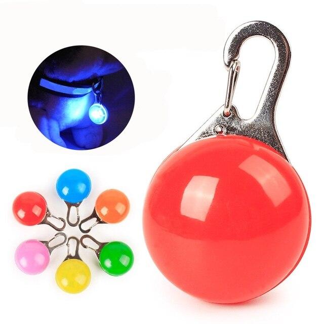 Dog Collar LED Flashlight Night Safety Glowing Necklace Pendant Cat Pet Luminous Bright Light Dog Toy Dog Accessories NO BATTERY