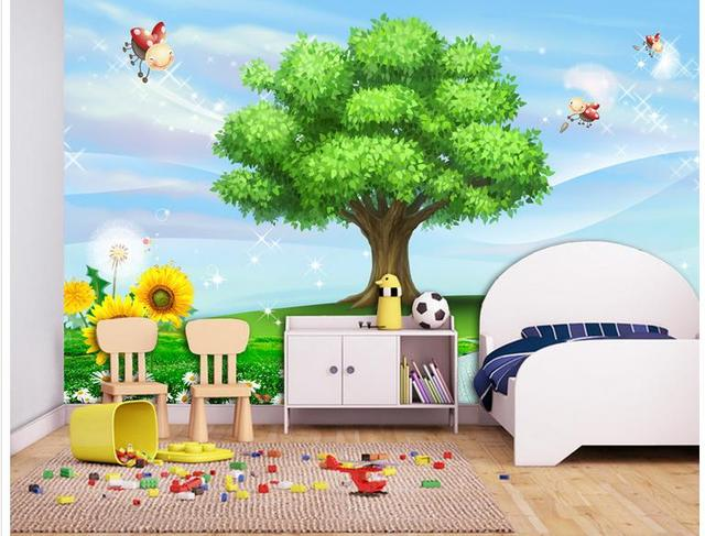 Awesome 3d Photo Wallpaper Custom 3d Wall Murals Wallpaper Cartoon Scene Children  Room Background Wall 3d Living Part 11