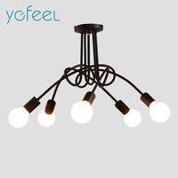[YGFEEL] nowoczesne Lampy Sufitowe Salon Sypialnia Jadalnia Lampy Nordic Styl Prosty Czarny Biały Czerwony Uchwyt E27 AC110V/220 V