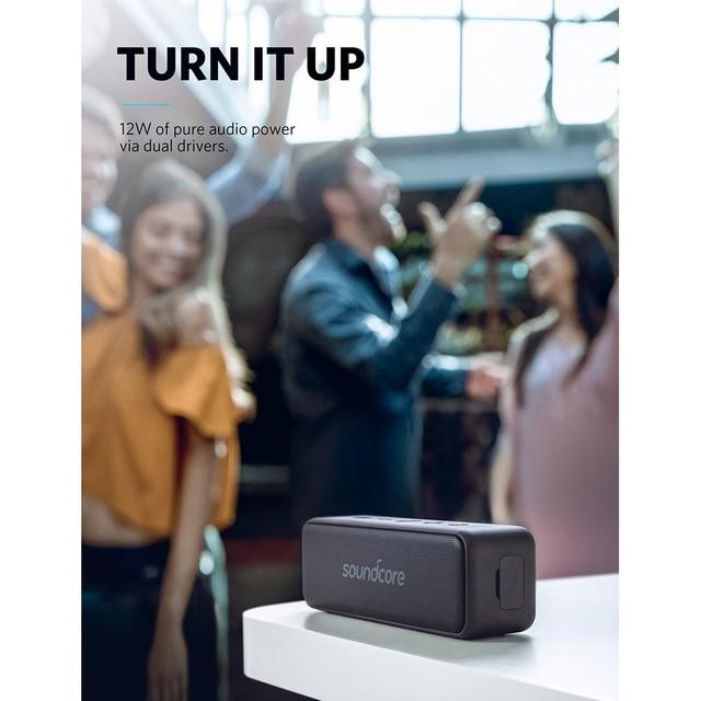 Haut-parleur Bluetooth Portable Anker Soundcore Motion B avec son stéréo 12W plus fort IPX7 étanche 12 + Hr