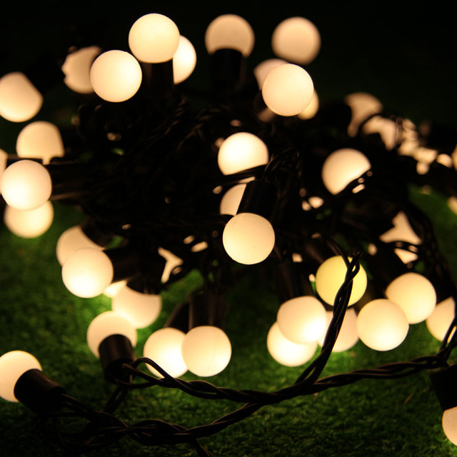 mini globe light ball led christmas string lights 5m 10m lighting holiday party garden decoration garland