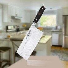 Cuchillo de cortar 7 Pulgadas Chef Cocinar Carne Congelada De Corte de la Cuchilla de Acero de Damasco VG10 Japonés TUOBITUO G10 Mango