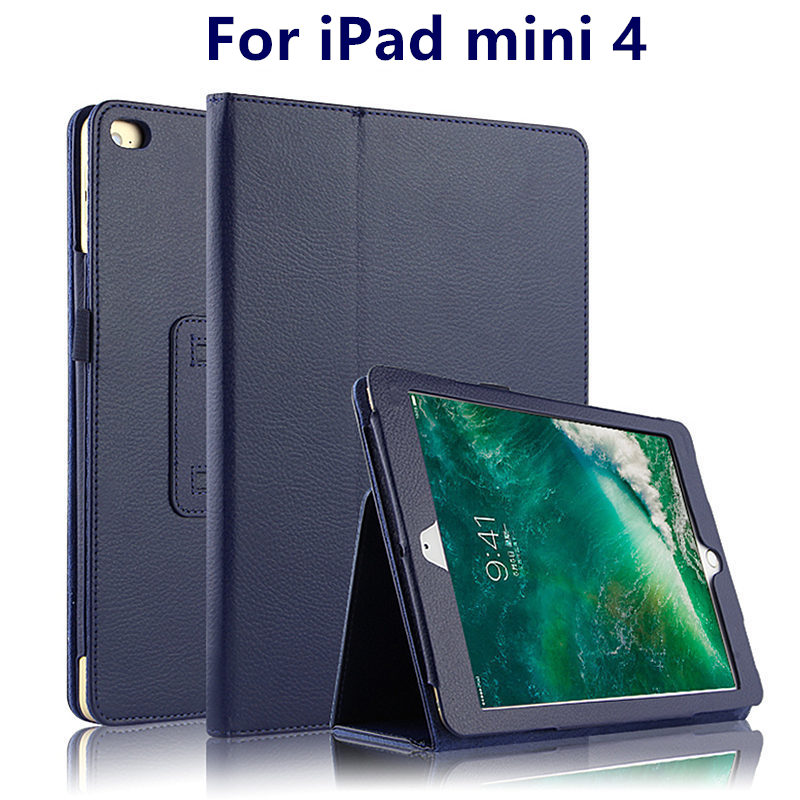 Case For Apple iPad mini 4 Smart Cover Case mini4 PU Leather Protector For iPadmini4 Tablet 7.9 inch Case Protective Shell Skin for ipad mini4 cover high quality soft tpu rubber back case for ipad mini 4 silicone back cover semi transparent case shell skin