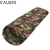 Camouflage Envelope Sleeping Bag Zippered Foldable Spring Summer Autumn Adults Cotton Travel Camping Sleeping Bags 180