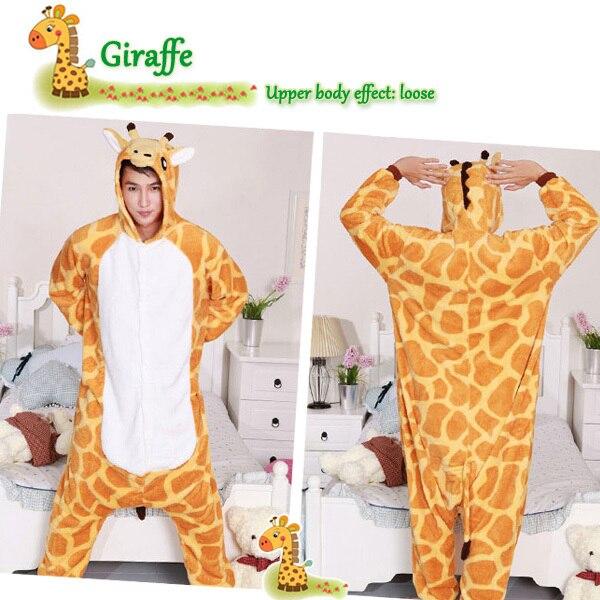 5d2dc0c4f7c6 Halloween Xmas Adult Animal Giraffe Onesie Cosplay costumes women men  Pyjamas Pajamas Sleep suit sleepwear All In One P23-in Pajama Sets from  Underwear ...