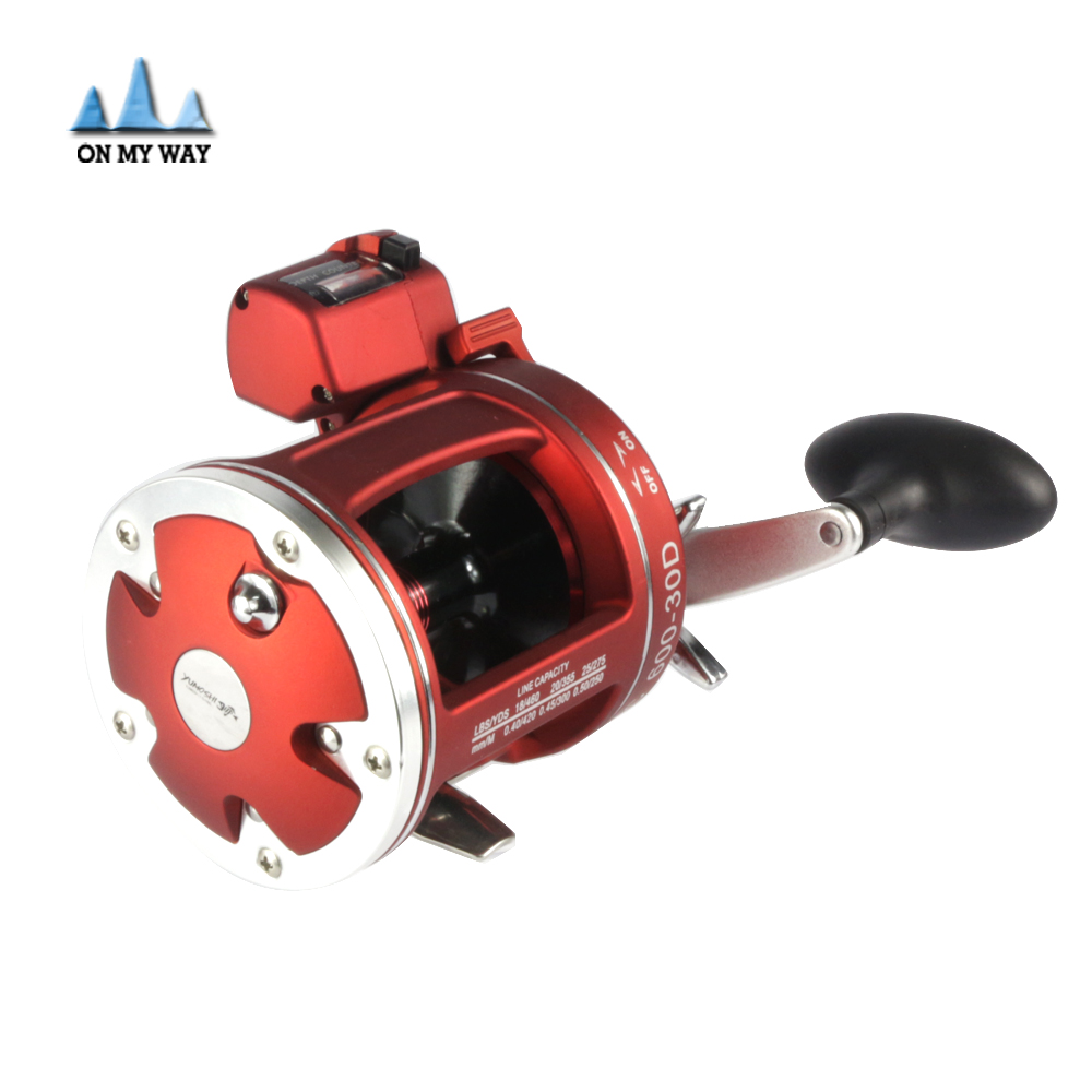 2016 new red right hand bait casting fishing reel with for Casting fishing reels