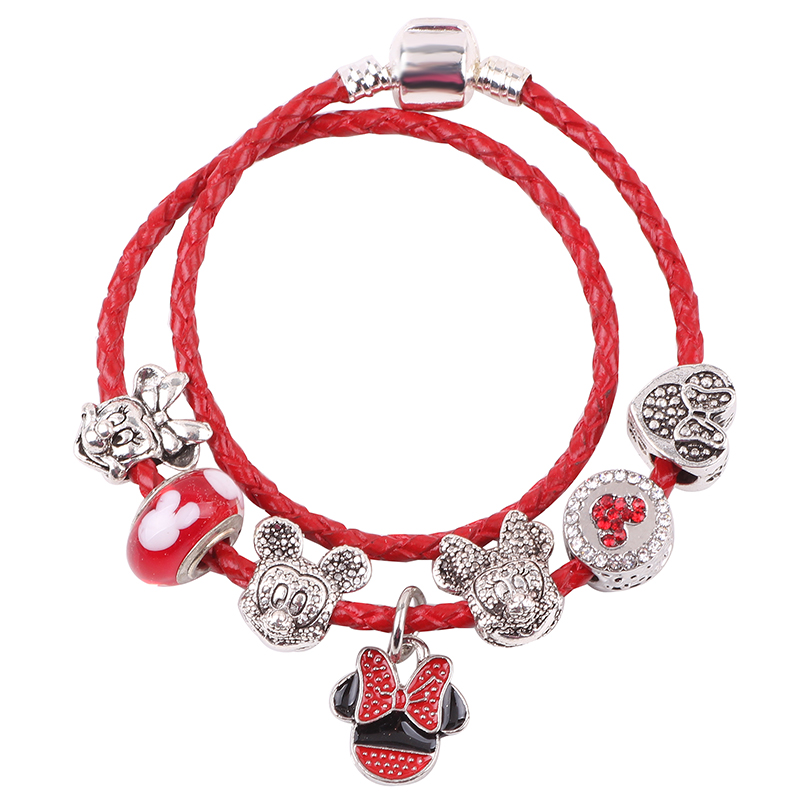 Newborn infants and small children soft baby men and women hand-woven red string natal simple red string bracelet rope