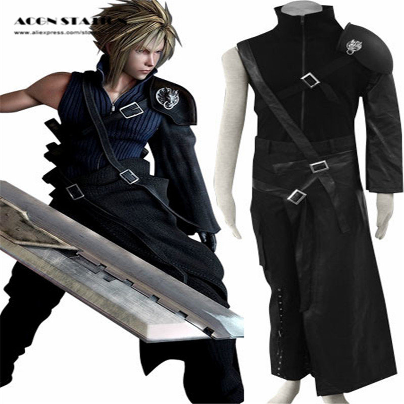 Free Shipping New Black Final Fantasy VII Cloud Cotton Cosplay Brand Costumes