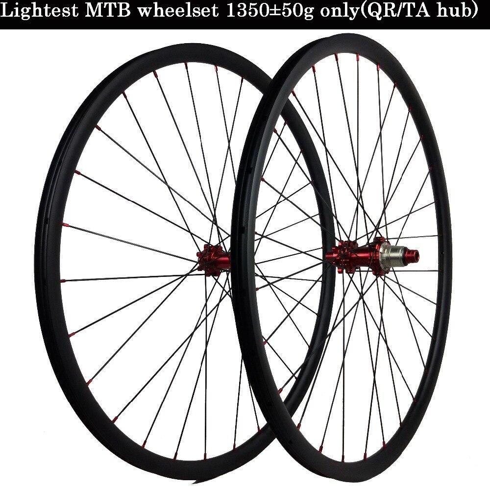29er MTB Carbon Rear wheel 30mm width novatec hub D042SB 135mm QR 6 bolt