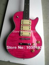 Hohe qualität hohe qualität Musikinstrumente gitarre rosa große dekorative muster pentagram griffbrett ems-freies verschiffen