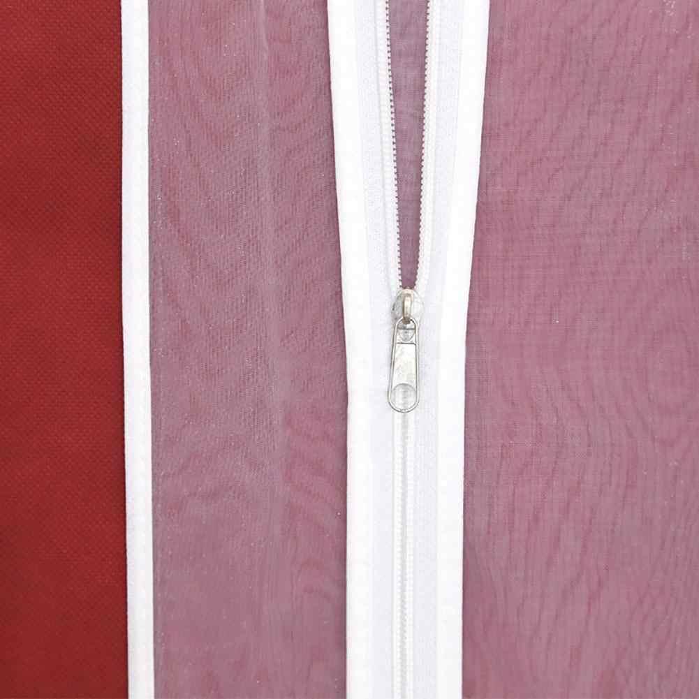 Двухсторонний прозрачный тюль кристалл пряжи свадебное платье пылезащитный чехол с застежкой-молнией для домашнего гардероба платье сумка для хранения
