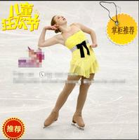 girls ice skating dresses yellow women competition skating dress hot sale figure skating clothes for girls free shipping