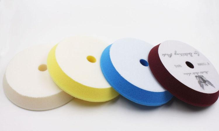5′(130mm-150mm)Rupess style foam solf puff polish foam pad 1lot/3pcs(1compounding cutting pad/1polishing pad/1 finishing pad