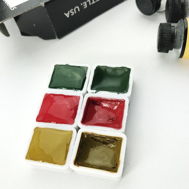 Ds noël aquarelle Pigments Daniel Smith importé aquarelle Pigments Ds noël tricolore emballage