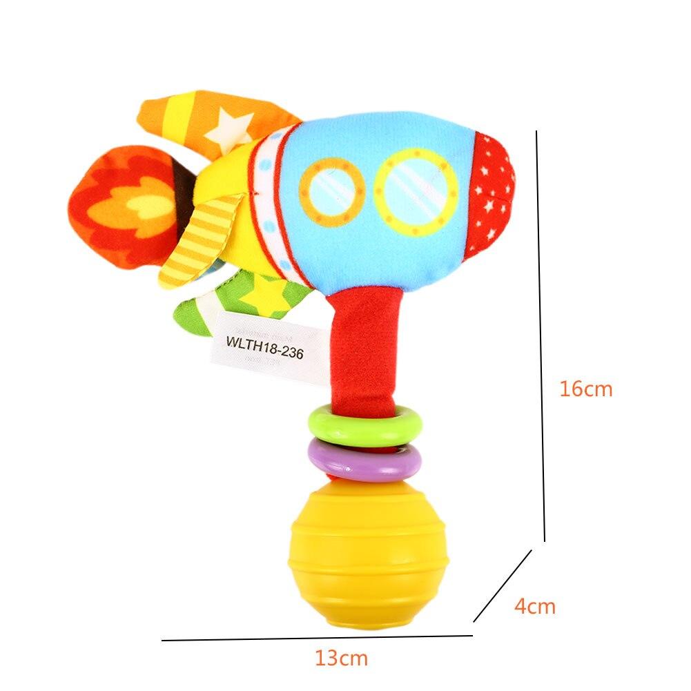 Многоцветный колокольчик Игрушка ракета погремушка игрушка Декор Коллекция практическая детская комната упражнения слуха настольная Мода Милая погремушка игрушка