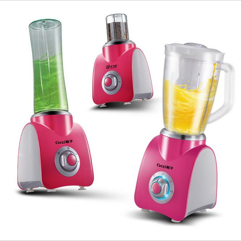 220V Multifunction Electric Juicer With 600ML Portable Juicer <font><b>Cup</b></font> And 100g Grinder 3 In 1 Household <font><b>Food</b></font> Processor