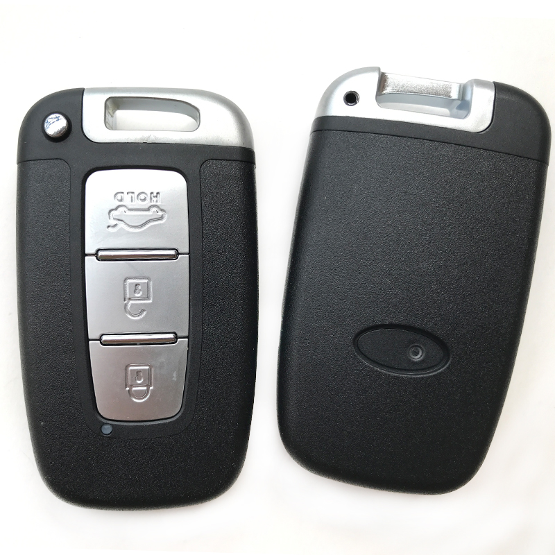 Red Silicone Cover Keyless Remote Key Fob Holder for Hyundai Kia K2 K5 3 Buttons