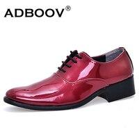Giá rẻ người đàn ông cưới giày rắn orange rose red blue rượu vang đỏ màu mens glossy giày bên chất lượng da váy giày gents nam