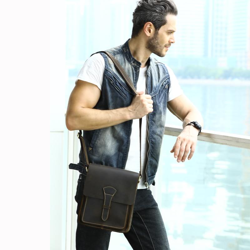 WESTAL Messenger τσάντα άνδρες δερμάτινα Vintage - Τσάντες - Φωτογραφία 2