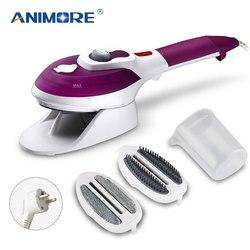 ANIMORE vaporizador de ropa electrodomésticos 220V máquina de vapor vertical con plancha de vapor cepillos plancha para planchar ropa para el hogar