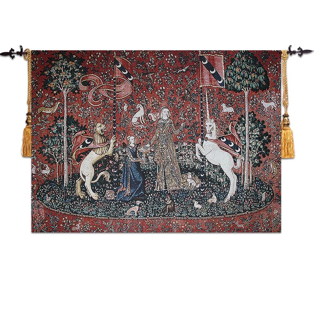 140x104 cm 100% coton maison textile décoration licorne sens du goût jacquard tissu photo tenture murale tapisserie RS 23-in Tapisserie from Maison & Animalerie    1