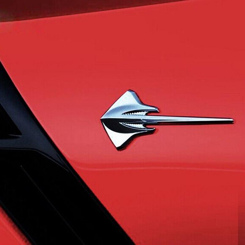 DSYCAR 1 stk 3D Metal Stingray Moto Bil klistermærke Logo Emblem Badge Bil Styling Til Fiat Audi Ford Bmw bil Jeep Honda chevrolet