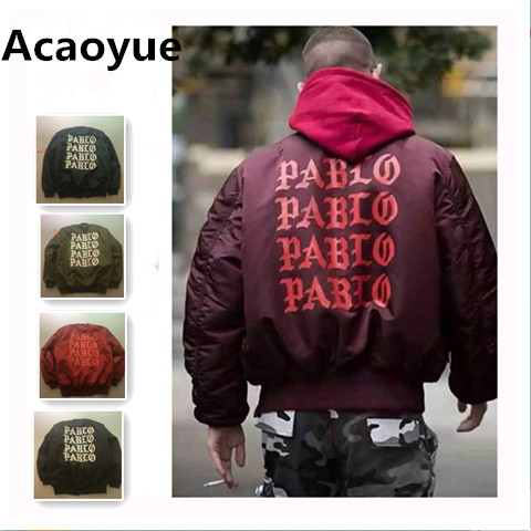 Acaoyue Jackets I feel like Paul Kanye West The Life Of Pablo Kanye MA1 Bomber Jackets Brand Thick Warm Bombers Coats Men