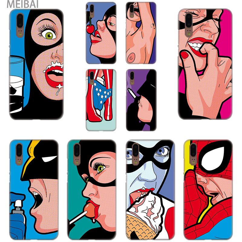MEIBAI spoof super hero Hard case cover for Huawei P9 P10 P20 P8 lite case P8 P9 2017 mini P smart P20 pro P9 P10 plus cover