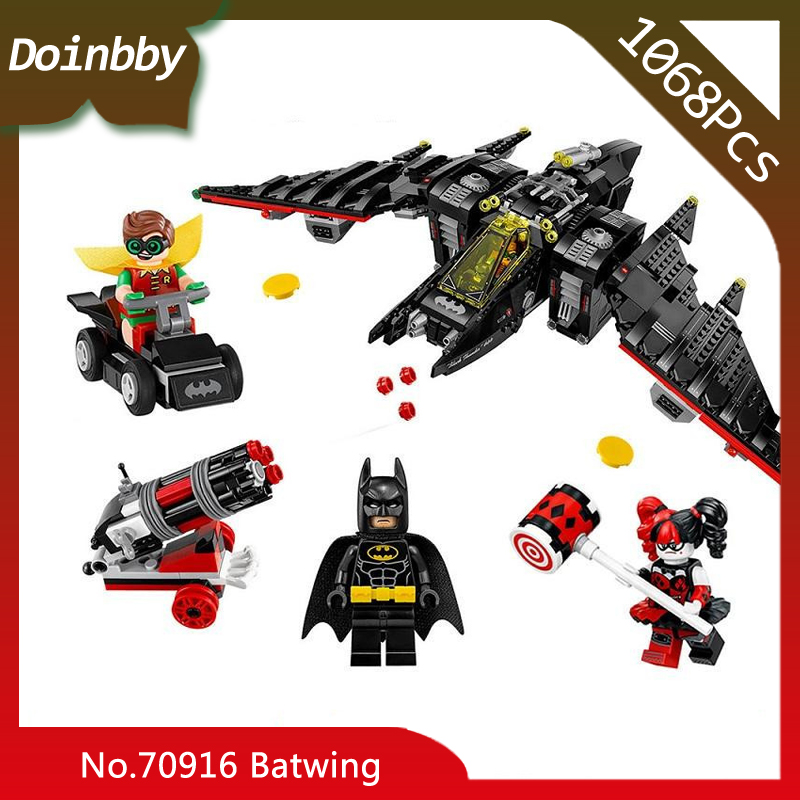 In Stock 07080 1068Pcs Batman Movie Series Batwing Fighter Quinn Model Building Blocks Toys Compatible With Legoings 70916In Stock 07080 1068Pcs Batman Movie Series Batwing Fighter Quinn Model Building Blocks Toys Compatible With Legoings 70916