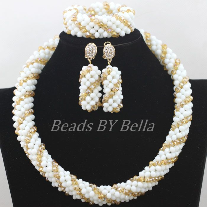 Trendy New Nigerian Wedding Party Beads Crystal Necklace Bridal Jewelry Sets African Fashion Jewelry Set Free Shipping ABF679Trendy New Nigerian Wedding Party Beads Crystal Necklace Bridal Jewelry Sets African Fashion Jewelry Set Free Shipping ABF679