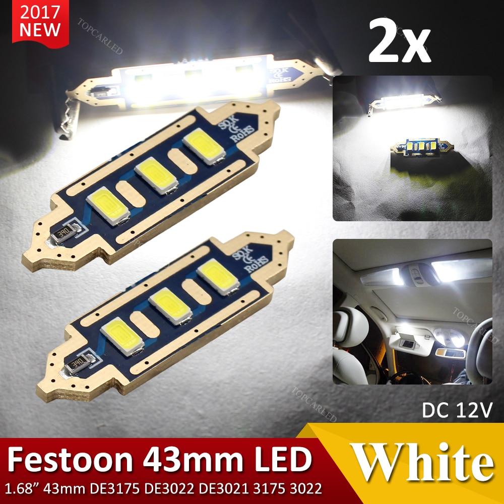 Safego 4x C5W LED Anti Errur 41mm 6-3030 SMD D/ôme voiture Int/érieur LED Lumi/ère Xenon Blanc
