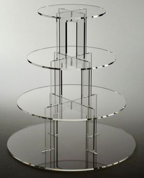 4 TIER CAKE CUPCAKE STAND Exquisite clear acrylic cake tower/Details about Masonite MDF decoration