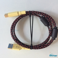 Iwistao hifi kabel usb dla dac usb2.0 plug-usb2.0 b eflon posrebrzanych drutu instrukcja podwójne magnes pierścień 0.75-2 m darmowa wysyłka