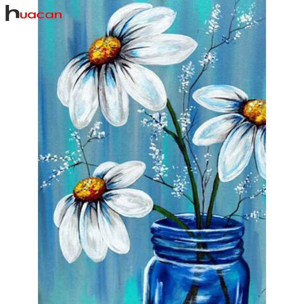 HUACAN 5D DIY Diamond Painting Flowers Full Drill Square Home Decor Picture Of Rhinestone Mosaic Diamond Embroidery HUACAN 5D DIY Diamond Painting Flowers Full Drill Square Home Decor Picture Of Rhinestone Mosaic Diamond Embroidery