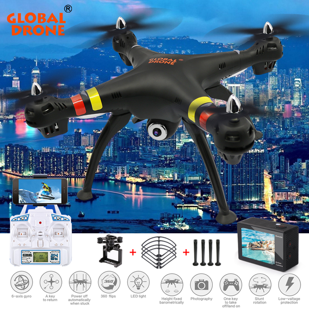 GW180 FPV RC Quadcopter Drone With 4K/1080P WIFI Camera HD 2.4G 6 Axis with Hover Function RC Helicopter toys VS Syma X8HG jjr c jjrc h43wh h43 selfie elfie wifi fpv with hd camera altitude hold headless mode foldable arm rc quadcopter drone h37 mini