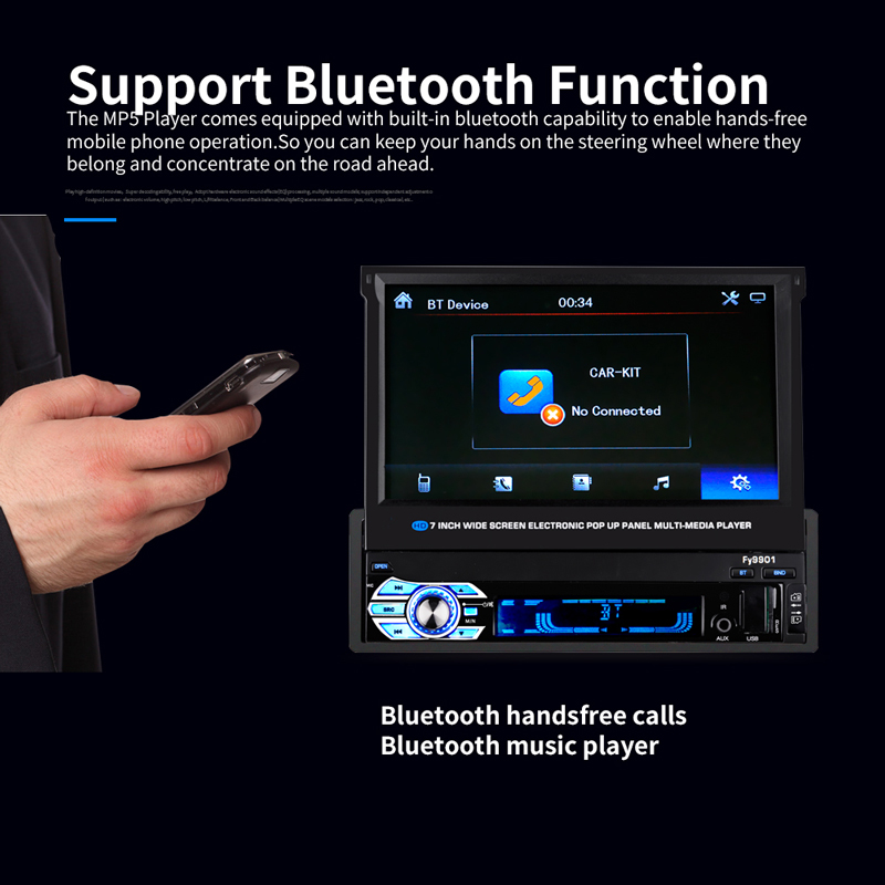 Autoradio Retractable Screen (5)