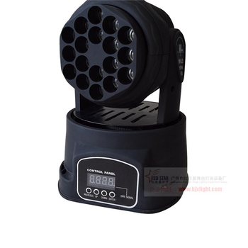 Factory directly sale china led moving head beam mini led rgb dmx 18*3W led dj moving head Quad with advanced 13 channels