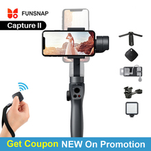 NEW Funsnap Capture 2 Three axis Phone Handle Gimbal Stabilizer for Andriod IOS Smartphones Gopro 5/6/7 DJI Osmo Action Cameras