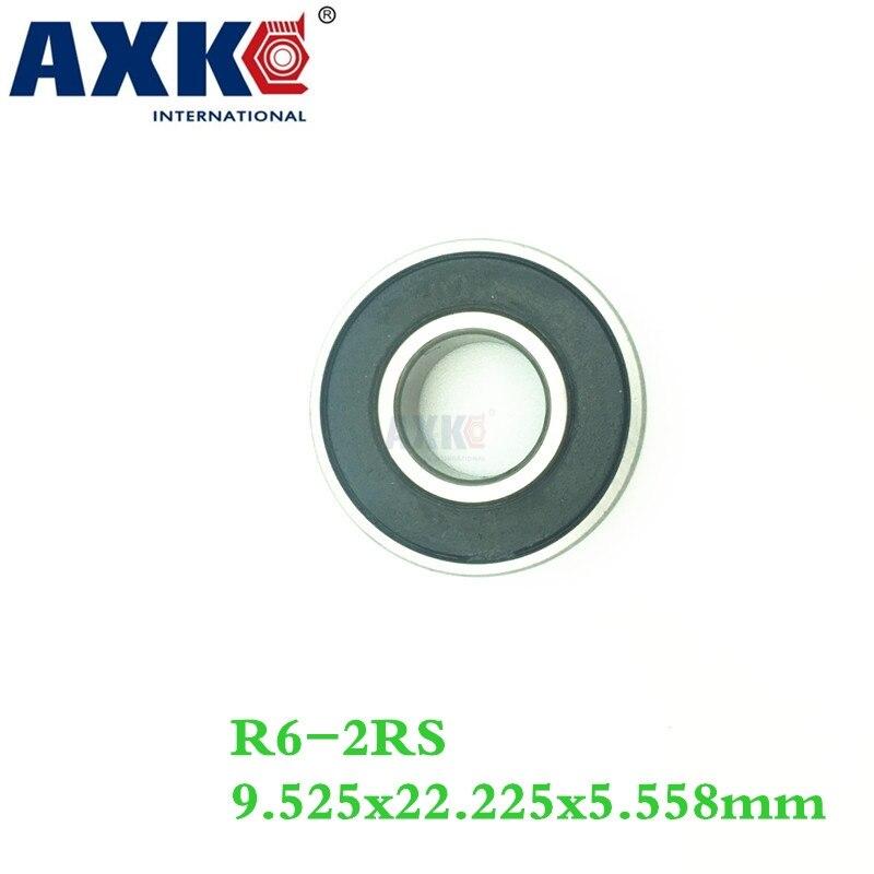 Axk Free Shipping R6-2rs R6 Hybrid Ceramic Deep Groove Ball Bearing 9.525x22.225x5.558mm axk free shipping 1pcs 6901 2rs hybrid ceramic si3n4 ball 61901 ceramic bearing 12 24 6mm 6901 2rs