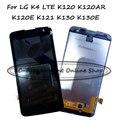 Для LG K4 LTE K120 K120AR K120E K121 K130 K130E VS425 VS425K VS425PP Жк-Экран + Сенсорная Панель Планшета Стекло ассамблея