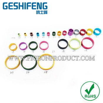 100pc free shipping Aluminium Pigeon Ring 4.5mm custom with name phone serial