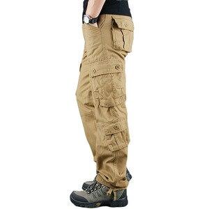 Image 4 - 2020 primavera Mens Cargo Pantaloni Kaki Militare Degli Uomini di Pantaloni Casual Cotone Pantaloni Tattici Degli Uomini di Grande Formato Army Pantalon Militaire Homme