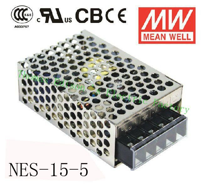 Original MEAN WELL power suply unit ac to dc power supply NES-15-5 15W 5V 3A  MEANWELL meanwell 12v 75w ul certificated nes series switching power supply 85 264v ac to 12v dc