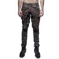 Стимпанк мужские вымытые старые брюки готические Hi Pop Толстые мужские карманные повседневные брюки двойные подходящие брюки