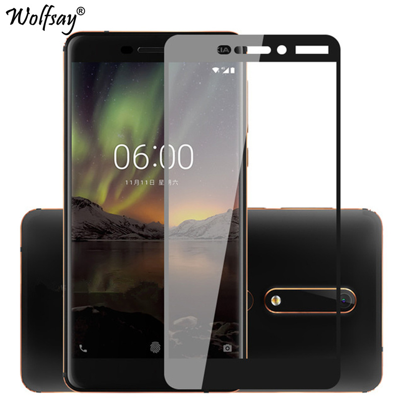 For Tempered Glass Nokia 6.1 Screen Protector Full Cover Phone Glass For On Nokia 6.1 9H Hard Film For Nokia 6 2018 TA-1043 1050For Tempered Glass Nokia 6.1 Screen Protector Full Cover Phone Glass For On Nokia 6.1 9H Hard Film For Nokia 6 2018 TA-1043 1050